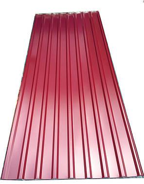 Профнастил кровельный  ПК-20 красный толщина 0,4 размер 3 Х1,15м, фото 2