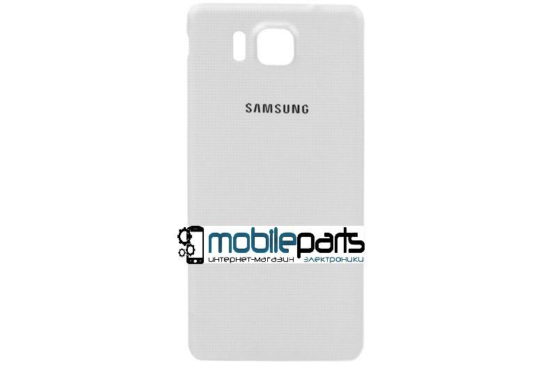 Задняя панель корпуса (крышка) для Samsung Galaxy Alpha G850 (Качество ААА) (Белая)