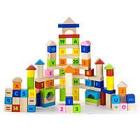 Набор кубиков Viga toys Алфавит и числа 100 шт. (50288)