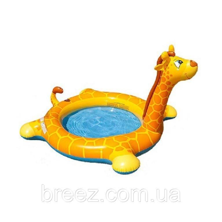Детский надувной бассейн Intex 57434 Жираф с фонтаном 208 х 165 х 122 см