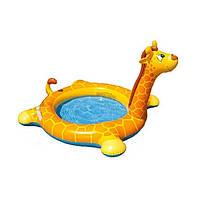 Детский надувной бассейн Intex 57434 Жираф с фонтаном 208 х 165 х 122 см , фото 1