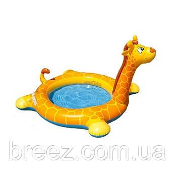 Детский надувной бассейн Intex 57434 Жираф с фонтаном 208 х 165 х 122 см , фото 2