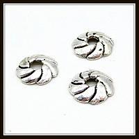 """Обниматели для бусин бали """"серебро"""" (d 0,9 см, h 0,2) 40 шт в уп."""