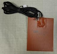 Гибкая нагревающая пластина 250Вт, 220В, размер 127ммх152мм, термостат 50 градусов