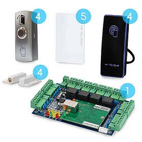 Комплект сетевого СКУД CnM Secure Gate 4 двери считыватель/кнопка
