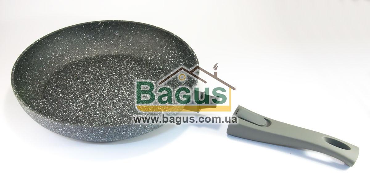Сковорода алюминиевая 28 x 5.4 см со съемной ручкой (AL-4365.28)