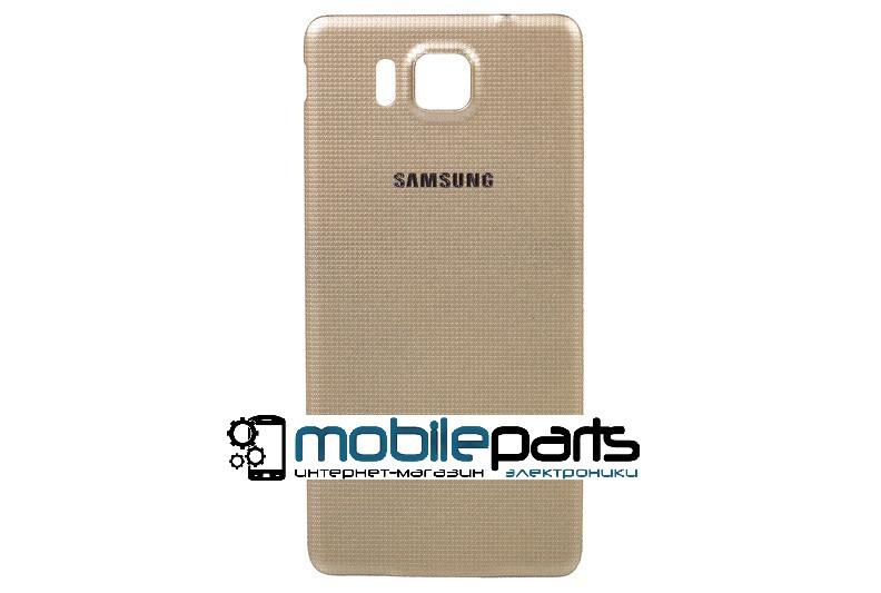 Задняя панель корпуса (крышка) для Samsung Galaxy Alpha G850 (Качество ААА) (Золотая)