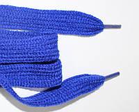 Шнурки плоские акрил 15мм, василек