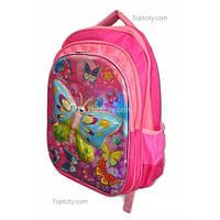 Рюкзак школьный ( спиннер в подарок) для девочки Бабочки G1608-1612d