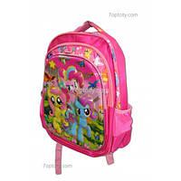 Рюкзак школьный ( спиннер в подарок) для девочки мой маленький Пони G1608-1612f