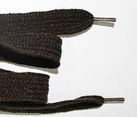 Шнурки плоские акрил 15мм, т. коричневый
