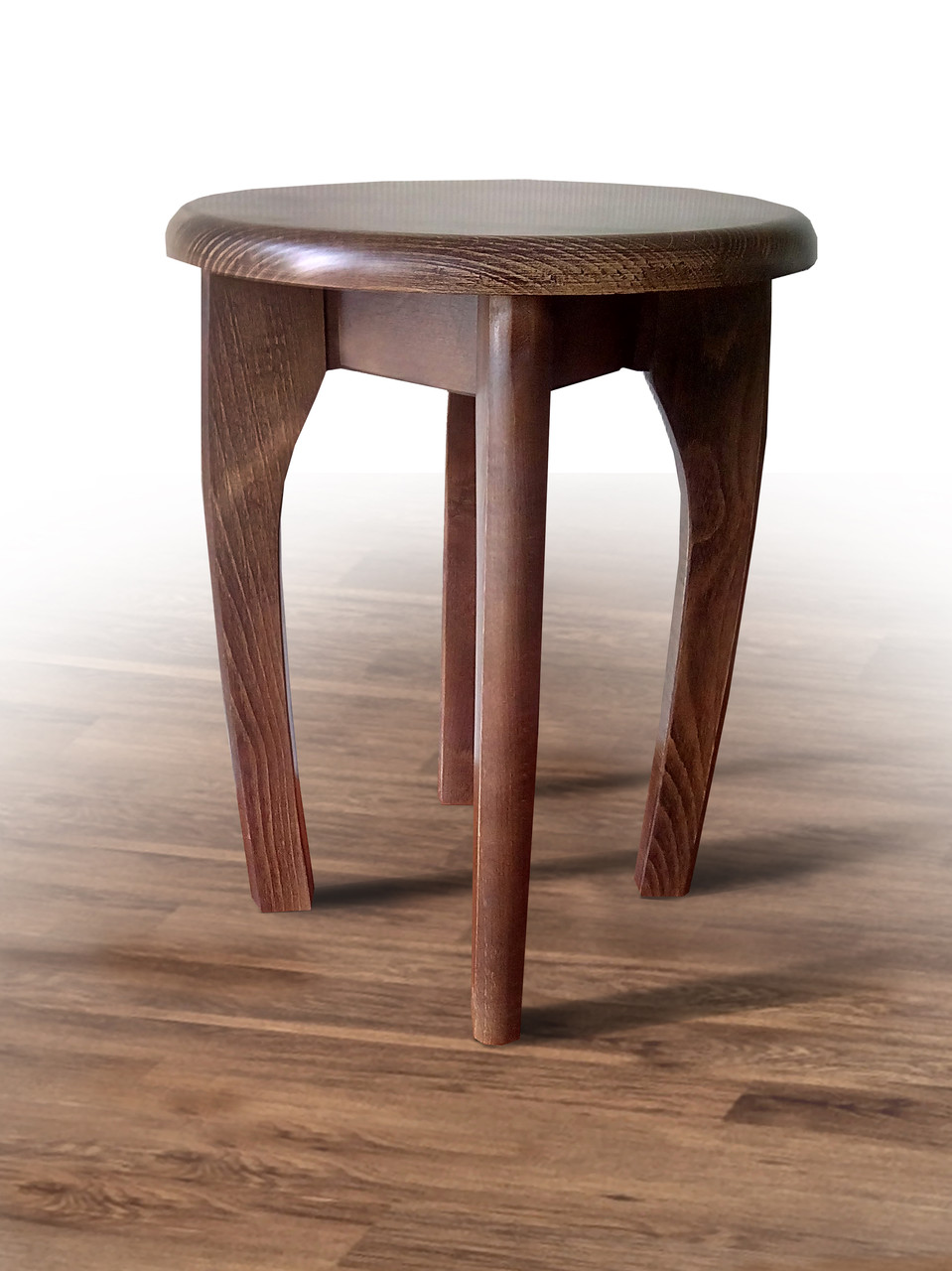 Табурет деревянный круглый орех (бук)