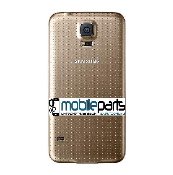 Задняя панель корпуса (крышка) для Samsung Galaxy S5 G900 (Качество ААА) (Золотая)