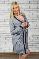 Женский пеньюар Меланжик (халатик и сорочка), фото 1