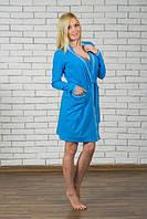 Женский пеньюар (халатик и ночнушка) голубой 42-54 р, фото 1