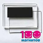 Акриловые рамки для магнитов 95х65 мм, заготовки под вставку 89х59 мм, фото 4