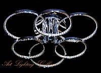 LED Люстра потолочная «Кольца» 3510/3+3