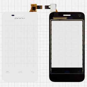 Сенсор (тачскрин) для Prestigio PAP3500 DUO MultiPhone/DOOV D600 белый Оригинал