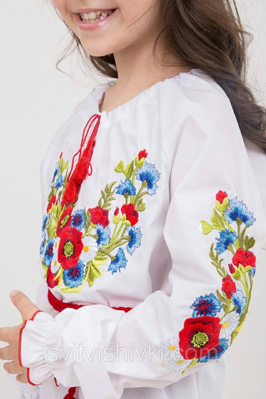 Необыкновенная вышитая блуза для девочки