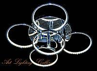 LED Люстра потолочная «Кольца» 3510/4+1