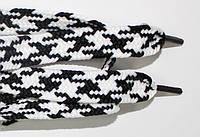 Шнурки плоские 12мм, черный + белый