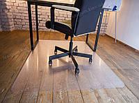 Ковер под кресло для защиты пола прозрачный 100х120см. Толщина 2,0мм. Чехия