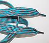 Шнурки плоские 12мм, мор.волна + св.серый