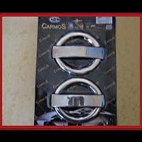 Хромированные накладки на ручки Fiat Doblo II 2005+ (4шт)