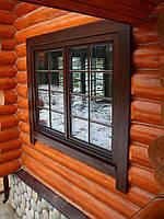 Деревянные окна с обсадной коробкой