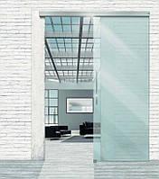 Раздвижная дверь MUTO Comfort M50, set 950 мм, Алюминий Niro темный, Стеклянное полотно прозрачное 8 мм