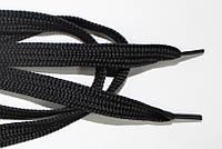 Шнурки плоские 10мм, черный
