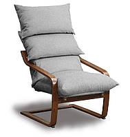 Супер комфорт кресло Серый, Орех