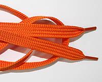 Шнурки плоские 10мм, оранжевый