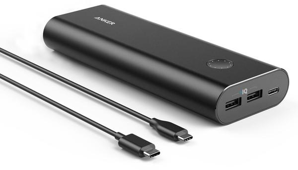 Портативное зарядное устройство Anker PowerCore+ 20100 USB-C V3 Black (внешняя зарядка для телефона)