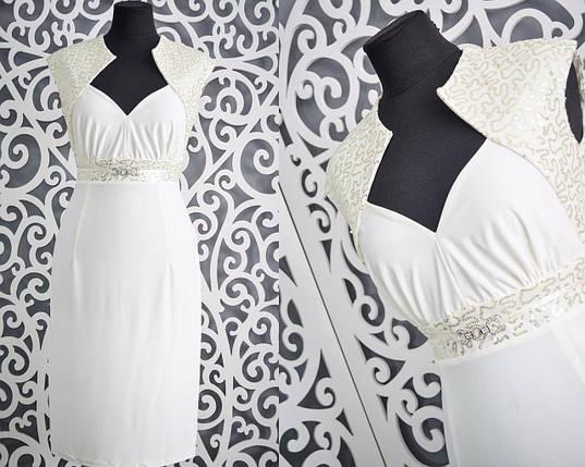 """Красивое вечернее женское платье """"масло"""" 48, 50, 52 размер батал, фото 2"""