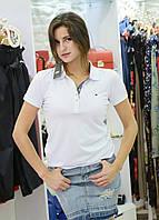 Брендовая женская футболка поло