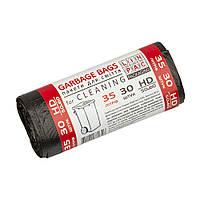 Пакет для смiття  35 L HDPE 30 шт міцні Лінпак