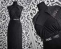 """Красивое вечернее женское платье """"масло"""" 50 размер норма"""