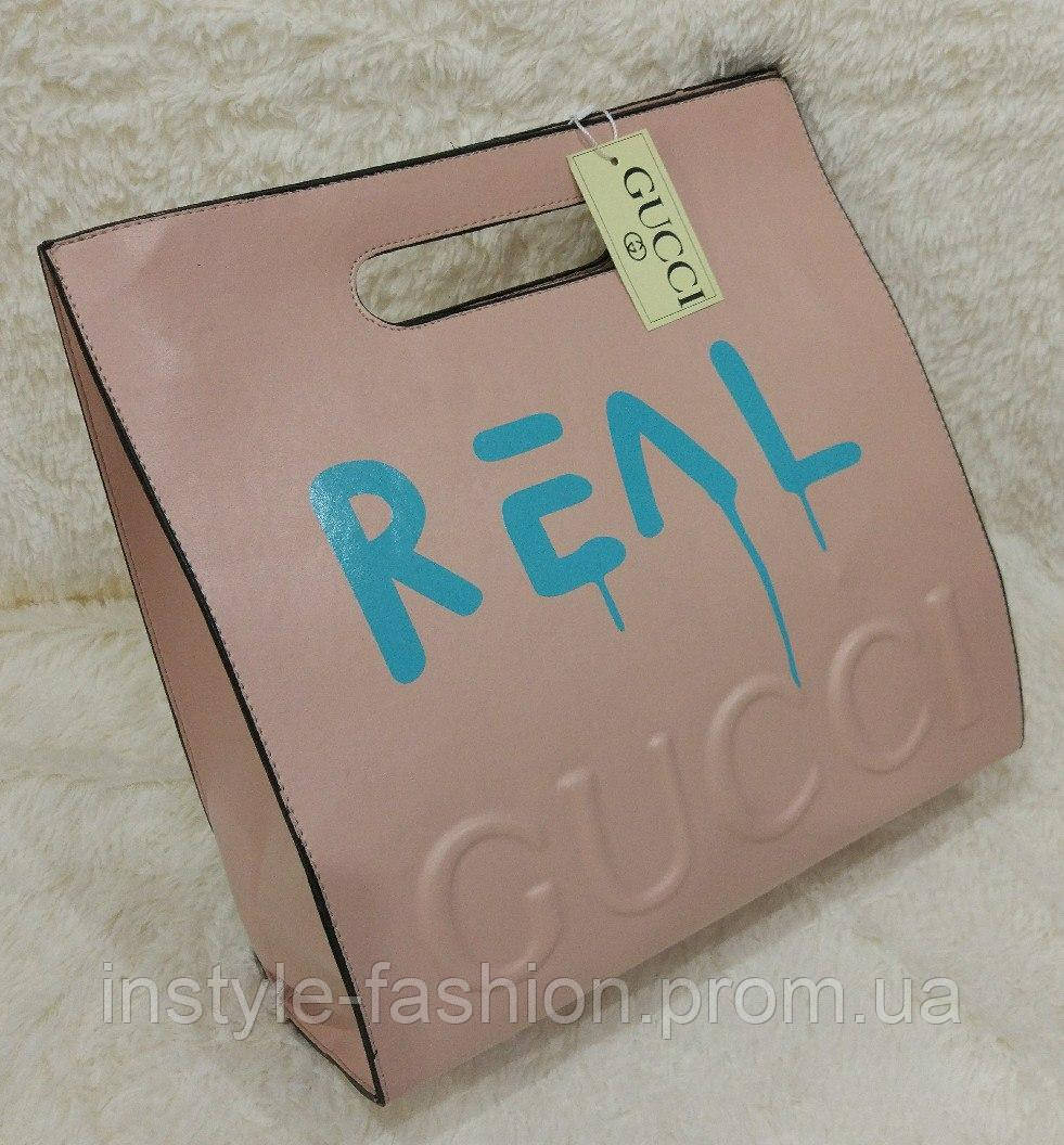 Сумка женская брендовая Gucci Гуччи цвет пудра