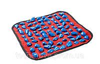 Массажный коврик с цветными камнями 40 х 40 см