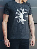 Молодежная футболка с принтом Staff moon