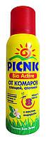 Аэрозоль Picnic Bio Active от комаров, клещей, слепней с маслом андиробы - 125 мл.