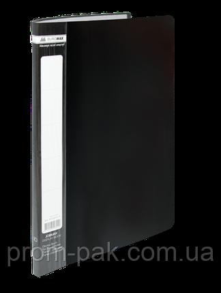 Папка пластиковая c 20 файлами А4 JOBMAX, черный, фото 2