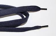 Шнурки плоские (чехол) 10мм. т.синий