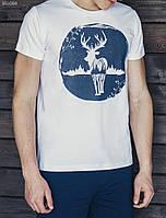 Футболка молодежная с принтом Staff White deer
