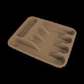 "Лоток для столовых приборов ""330""330x260 мм шоколад"