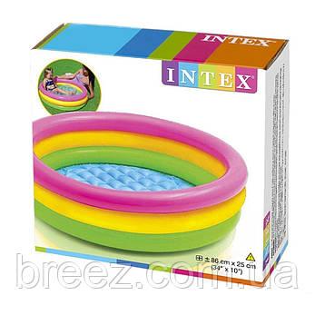 Детский надувной бассейн Intex 57107 Радуга 61 х 22 см, фото 2