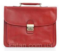 Мужской портфель из кожи Katana 31008 красный