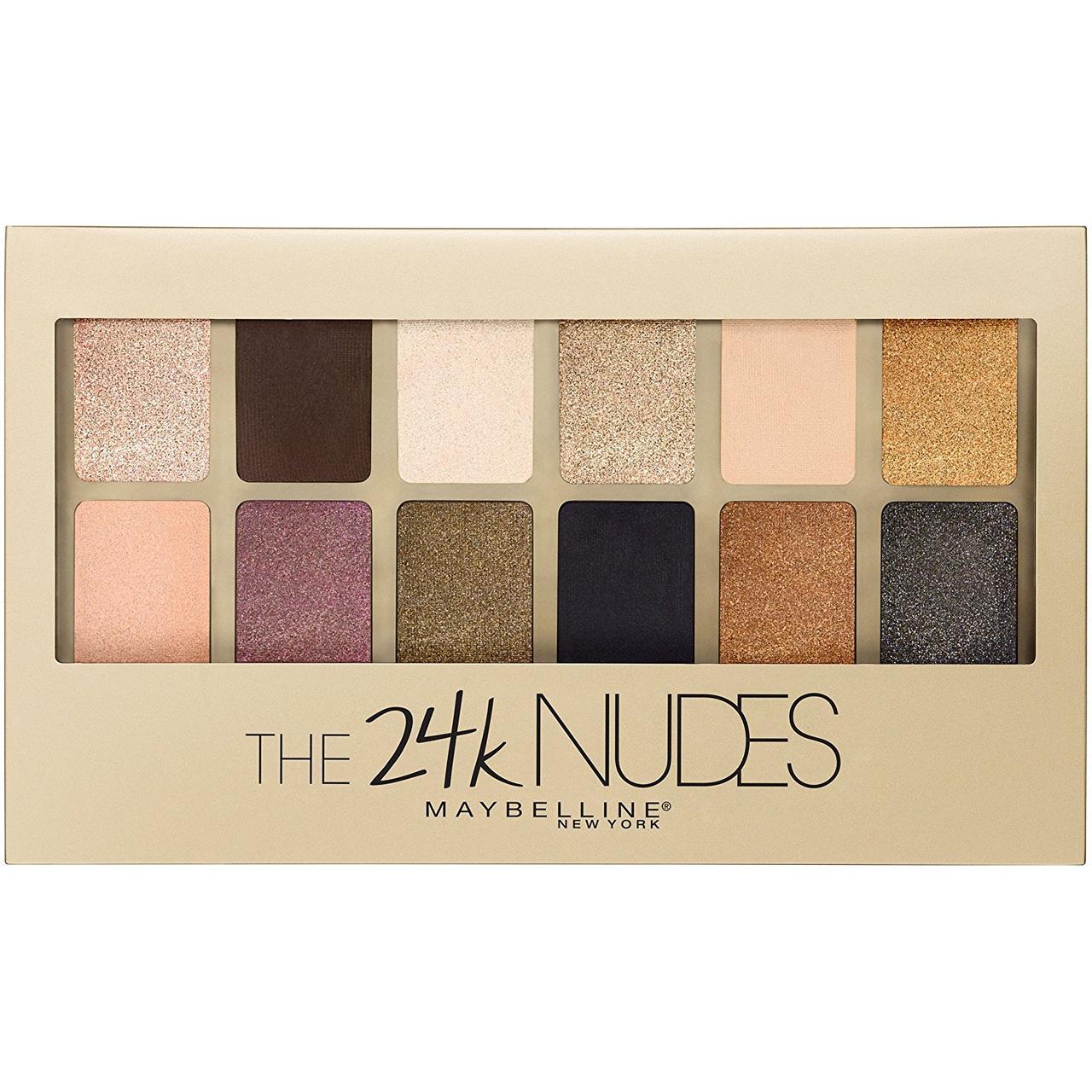 Палетка теней Maybelline New York The 24K Nudes, фото 1