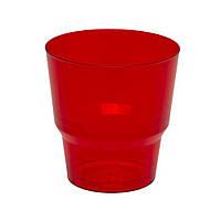 Склянка 200 мл склопластик 50 шт, Україна червона